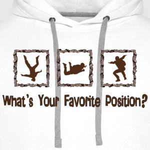 What's Your Favorite Position? Brown Tops - Men's Premium Hoodie
