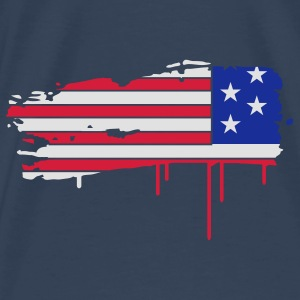 Flag of the United States painted with a brush stroke  Tops - Men's Premium T-Shirt