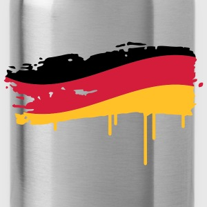 Germany flag painted with a brush stroke Tops - Water Bottle