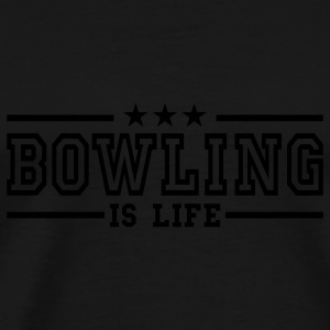 bowling is life deluxe Toppar - Premium-T-shirt herr