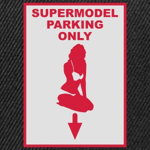 Supermodel parking only - Gorra Snapback