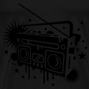 Radio cassette recorder graffiti Tops - Men's Premium T-Shirt