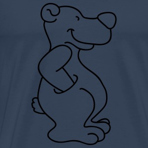 Cute bear with pocket Tops - Men's Premium T-Shirt