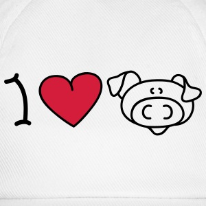 I love pigs Tops - Baseballcap