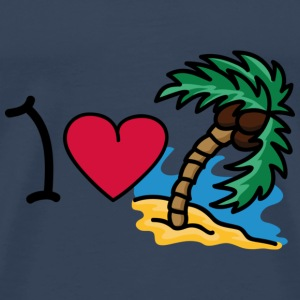I love holidays Tops - Mannen Premium T-shirt
