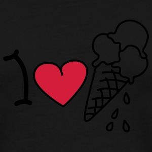 I love icecream T-skjorter - Premium T-skjorte for menn