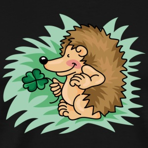 The little hedgehog with the clover leaf T-Shirts - Men's Premium T-Shirt