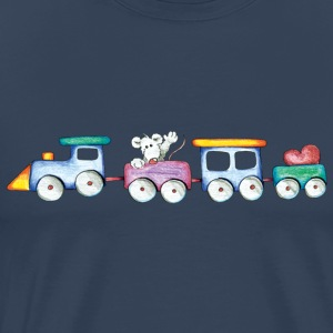 Cute little train Tops - Mannen Premium T-shirt
