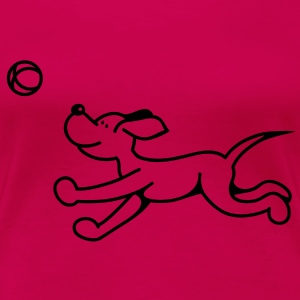 The dog plays with the ball Tops - Women's Premium T-Shirt