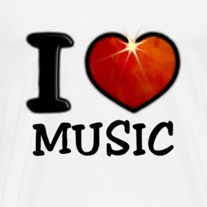 I Love Music - Men's Premium T-Shirt
