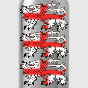 Three English Lion Passants with St George's Cross - Water Bottle