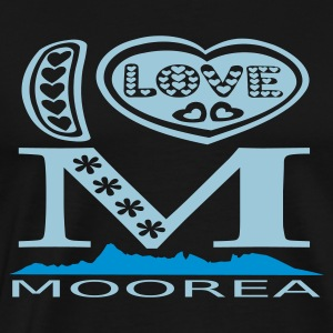 I Love Moorea t-shirt - Men's Premium T-Shirt