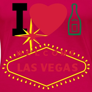 I LOVE CHAMPAGNE IN LAS VEGAS - Women's Premium T-Shirt