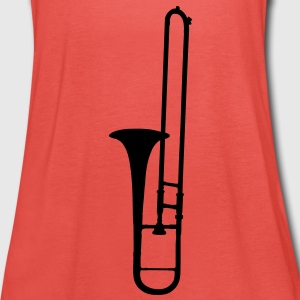 trombone brass instrument music Kinder shirts - Vrouwen tank top van Bella