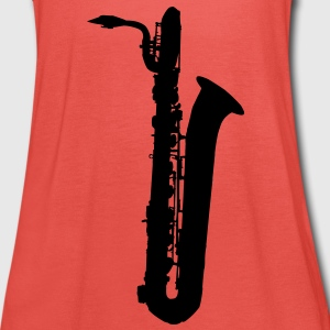 saxophone brass instrument music Kinder shirts - Vrouwen tank top van Bella