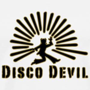 devil, disco, party, drugs, smoking pot, celebrate, celebration tonight, sex, retro, 70s, 60s, club, sound, music, drink, smoke or drink, noise, Tops - Men's Premium T-Shirt