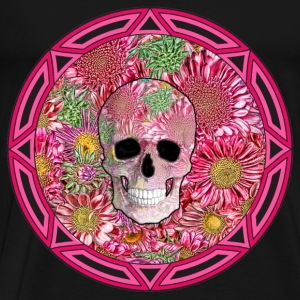 Tribal Flower Skull (Small) - Men's Premium T-Shirt