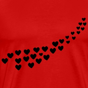 Flying Hearts and Flower - Men's Premium T-Shirt