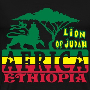 lion of judah africa ethiopia Tops - Mannen Premium T-shirt