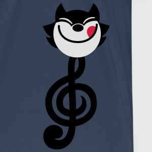 Clé de Sol en forme de chat cartoon par Cheerful Madness!! Débardeurs - T-shirt Premium Homme