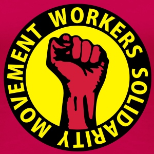 3 colors - Workers Solidarity Movement - Working Class Unity Against Capitalism Toppar - Premium-T-shirt dam