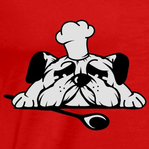 A pug with a chef's hat and wooden spoon Tops - Men's Premium T-Shirt