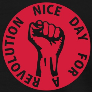 1 color - nice day for a revolution - against capitalism working class war revolution Tops - Men's Premium T-Shirt