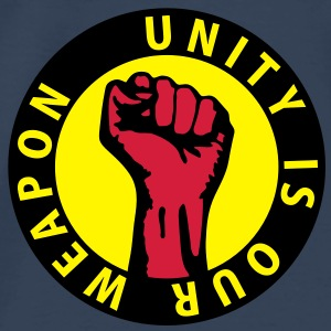 3 colors - unity is our weapon - against capitalism working class war revolution Tops - Men's Premium T-Shirt