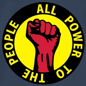 3 colors - all power to the people - against capitalism working class war revolution Top - Maglietta Premium da uomo
