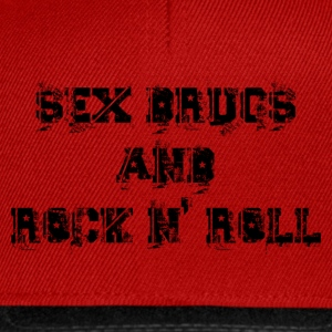 sex drugs and rock n' roll Tops - Snapback Cap