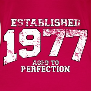 Geburtstag - established 1977 - aged to perfection - Frauen Premium T-Shirt