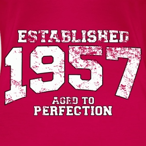 established 1957 - aged to perfection (uk) Tops - Women's Premium T-Shirt