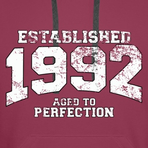 established 1992 - aged to perfection (fr) Débardeurs - Sweat-shirt à capuche Premium pour hommes