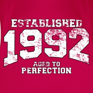 Geburtstag - established 1992 - aged to perfection - Frauen Premium T-Shirt