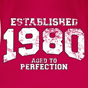 Geburtstag - established 1980 - aged to perfection - Frauen Premium T-Shirt