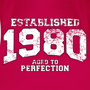 established 1980 - aged to perfection (nl) Tops - Vrouwen Premium T-shirt