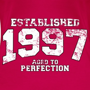 established 1997 - aged to perfection (es) Tops - Camiseta premium mujer