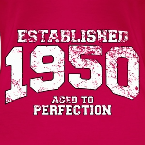 established 1950 - aged to perfection (no) Topper - Premium T-skjorte for kvinner