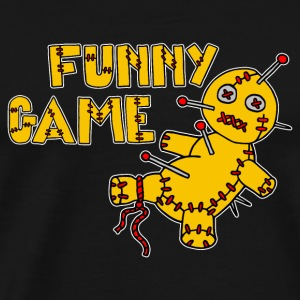 Digital - Voodoo Puppe Doll Funny Game Hawaii Tattoo Horror Psychopath T-shirt - Maglietta Premium da uomo