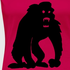 Horror-Gorilla Tops - Frauen Premium T-Shirt