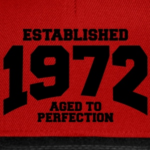 aged to perfection established 1972 (es) Tops - Gorra Snapback