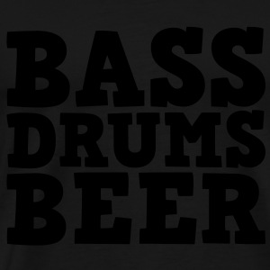 Bass Drums and Beer Tops - Mannen Premium T-shirt