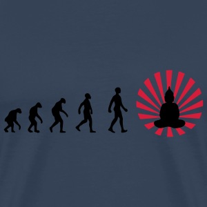 Darwin, evolution, revolution, enlightened, Buddha - Men's Premium T-Shirt