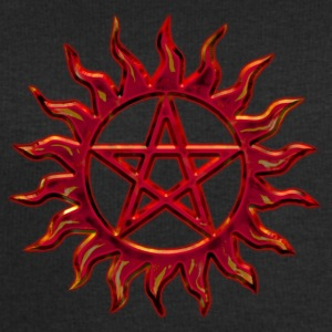 Pentagram - Blazing Star- Sign of intellectual omnipotence and autocracy. digital red, Star of the Magi , powerful symbol of protection Tops - Men's Sweatshirt by Stanley & Stella