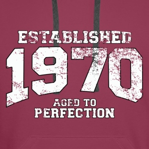 established 1970 - aged to perfection (nl) Tops - Mannen Premium hoodie
