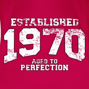 established 1970 - aged to perfection (nl) Tops - Vrouwen Premium T-shirt