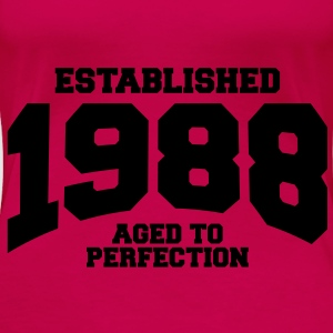 aged to perfection Geburtstag - established 1988 ( - Frauen Premium T-Shirt
