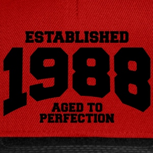 aged to perfection Geburtstag - established 1988 ( - Snapback Cap