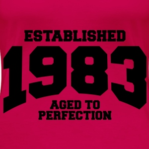 aged to perfection established 1983 (sv) Toppar - Premium-T-shirt dam