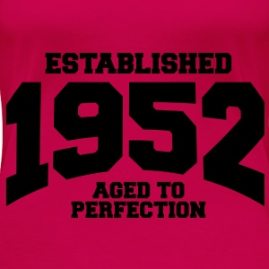aged to perfection established 1952 (sv) Toppar - Premium-T-shirt dam